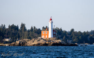 Fisgard Lighthouse at the mouth of Esquimalt Harbour - Orca Spirit